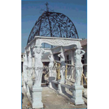 Stone Marble Garden Pavilion for Antique Outdoor Decoration (GR012)