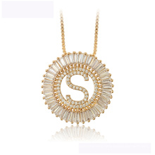 34441wholesale xuping fashion necklace 18K gold color letter S luxurious necklace