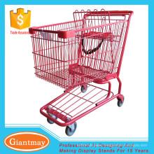 shopping trolley with heavy duty wheels