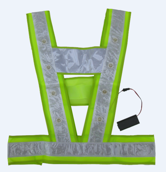 high light reflective safety led vest