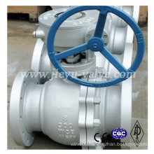ANSI 300lb Floating Worm Operated Ball Valve