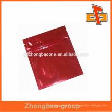 Sacos de plástico saco impresso folha de alumínio laminada ziplock máscara facial saco