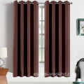 Cortinas opacas marrón chocolate de 63 pulgadas de largo
