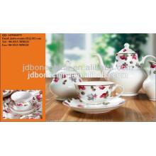 Té de café de cerámica de cerámica de la porcelana del diseño artístico elegante moderno fijó