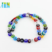 Cheap Bulk Wholesale Mixed Color Y0005 Greek Small Eyeball Flat Round Shape Evil Eye Beads