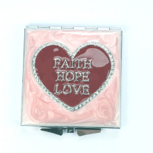 Red Heart Compact Mirrors