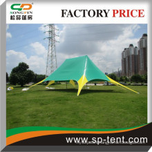Double pole star tent for advertising
