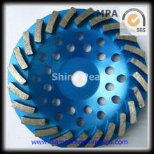 Hochleistungs Diamant Topfscheibe für Betonboden Spirale Segment