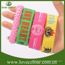 Wristband de encargo promocional del silicón del fashional para el regalo del Año Nuevo
