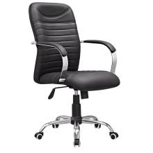 Chaise de conférence de réunion en cuir pivotante de dossier moyen (HF-B1590)