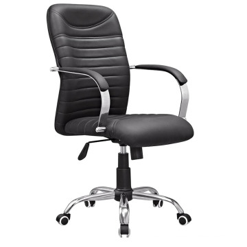 Middle Back Office Swivel Leather Meeting Conference Chair (HF-B1590)