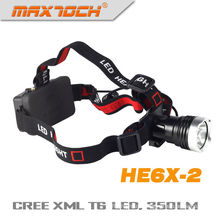 T6 Maxtoch HE6X-2 Cree LED Batterie angetriebene Scheinwerfer