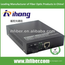 10/100 / 1000M Fibra Óptica Media Converter singlemode única fibra SC porta 20 km