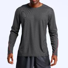Camisas da luva longa T dos homens do Gym do exercício