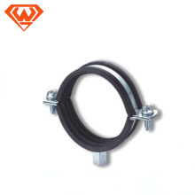 fabricante de abrazadera de tubo de acero al carbono o acero inoxidable con tuerca