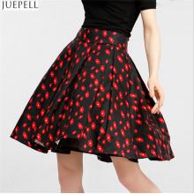 Herbst neue Frauen hohe Taille Röcke Marke in Europa und Amerika Temperament setzen auf einem großen Blumenrock ein Wort Tutu