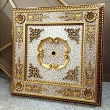 Plafonnier artistique découpé décoratif en dentelle dorée Dl-1182-2