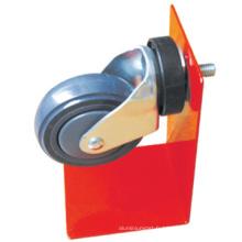 75mm en caoutchouc gris pivotant Shopping Cart PVC roulettes