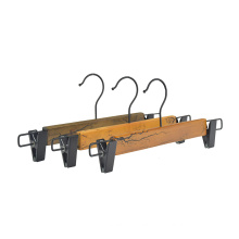 Factory Direct Custom Pretty Wooden Pants Hanger With Electric shock process For Brand