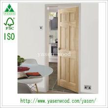 Porte intérieure à rainure en V à 6 panneaux en pin clair
