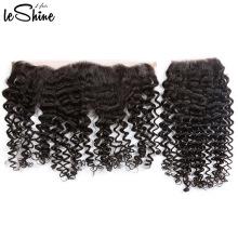 Extensão ascendente perverso do cabelo encaracolado do cabelo do Virgin da categoria 9a do fechamento do laço 360 do laço