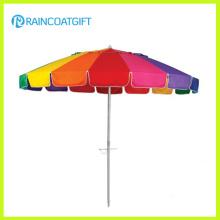 7 футов красочные Радуга Открытый Патио Пляжный зонтик
