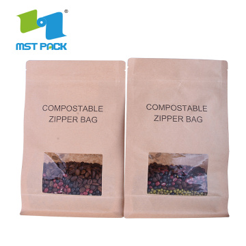 Stand Up Pouch Biodegradable Kraft Paper Bag Food