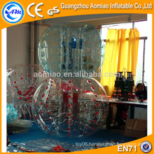 Customized color dots bubble soccer, PVC/TPU soccer bubble/bubble ball