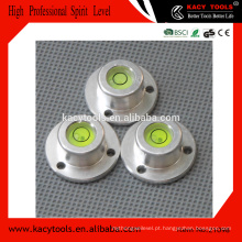 Ferramentas de nivelamento de bolhas redondas circular em alumínio