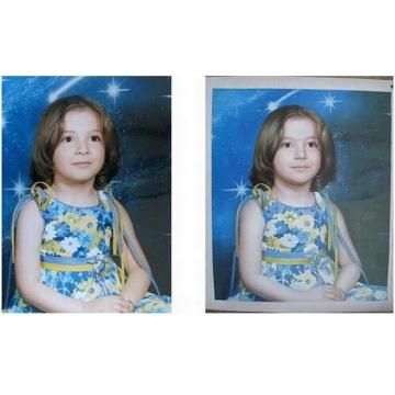 Pintura a óleo do retrato da lona De Foto