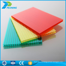 Super highly tinted twin double wall uv lexan polycarbonate plastic roof honeycomb sheets 10mm