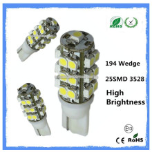 194 501 car lamp 3528 SMD led auto lamp
