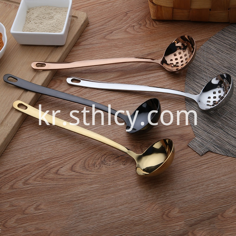 Stainless steel mesh spoon with filtration