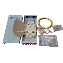 12 Cores SC / FC Caixa de terminal de fibra de parede