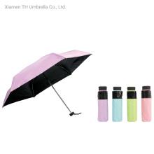 Compact Super Mini Umbrella/Cute Pocket Manual Umbrella with Black Coating and UV Protection/Fashion Gift Umbrella for Lady