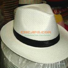 Sombrero de Panamá de papel impreso de encargo con el logotipo para la publicidad
