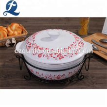 Hot Sale Microwave Ceramic Cookware Stoneware Stock Pot With Lid