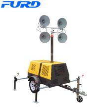 Torre de luz LED Generador de emergencia de remolque