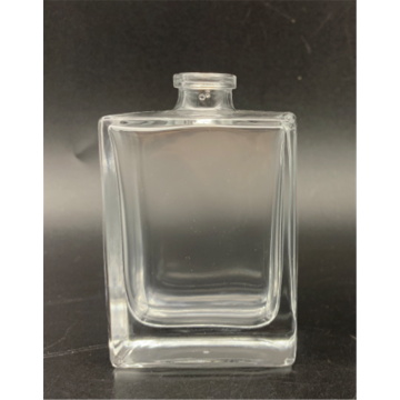 Flacon de parfum en verre carré transparent de 30 ml