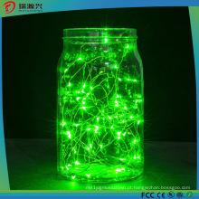 Luzes da corda, Corda de fio verde brilhante super da cor verde-claro-Verde
