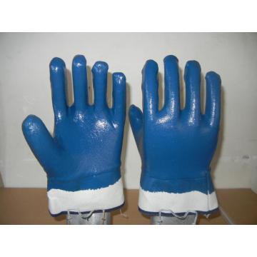 Bule Nitrile Coated Gloves