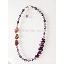 Mode Kristall Schmetterling Perlen Halskette