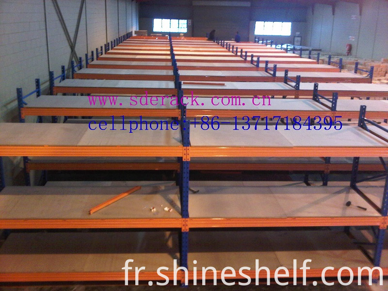 Heavy Duty Shelves with Plywood Decking