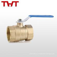 válvula de bola maestra del flujo de cobre cw617n con el metro del agua de la cerradura