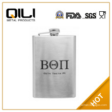 FDA 8oz Custom Engraved College Fraternity Hip Flask