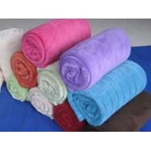 Manta de lana de coral de color sólido 850g