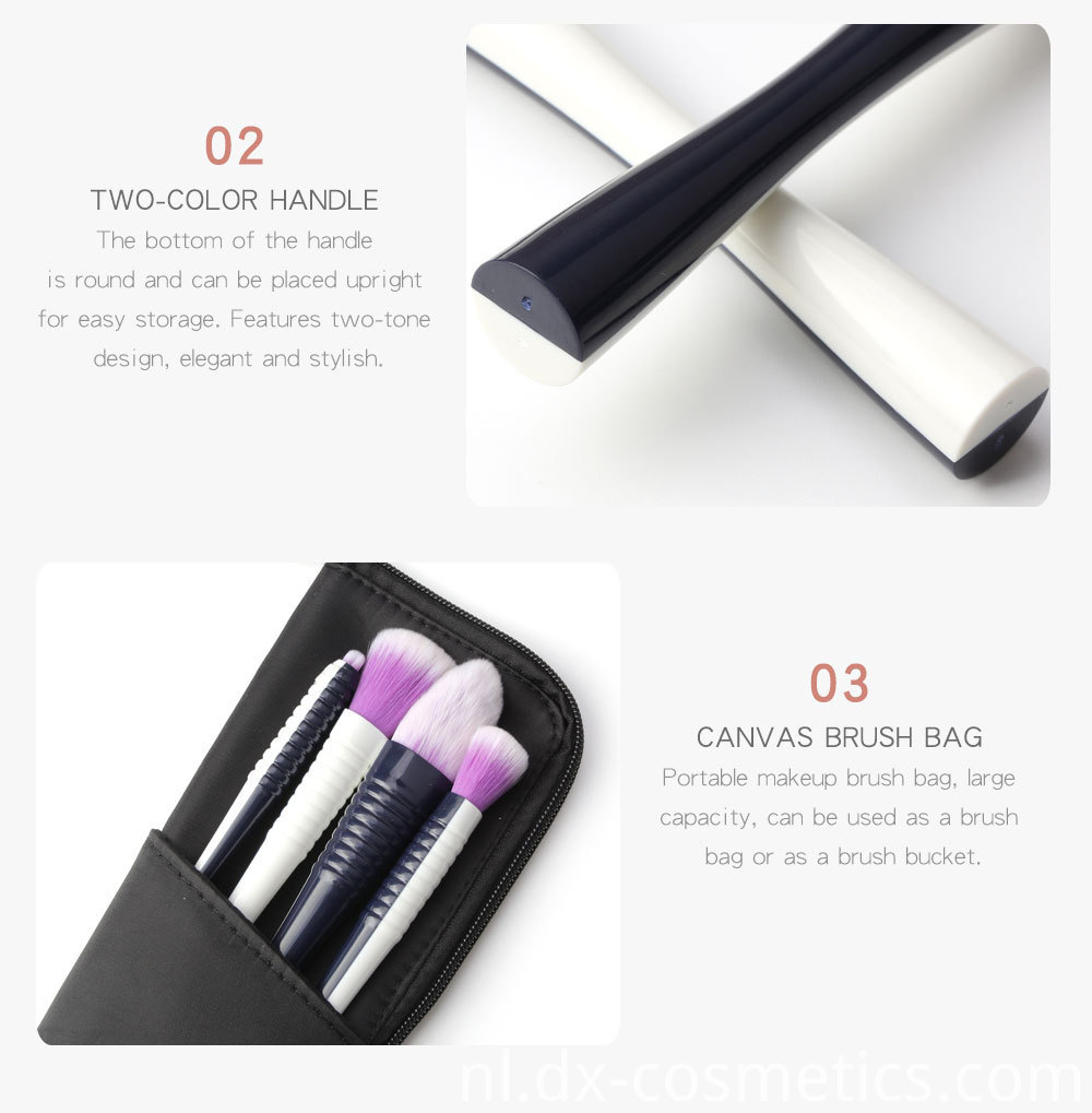 9 PCS Makeup Brushes Set 4