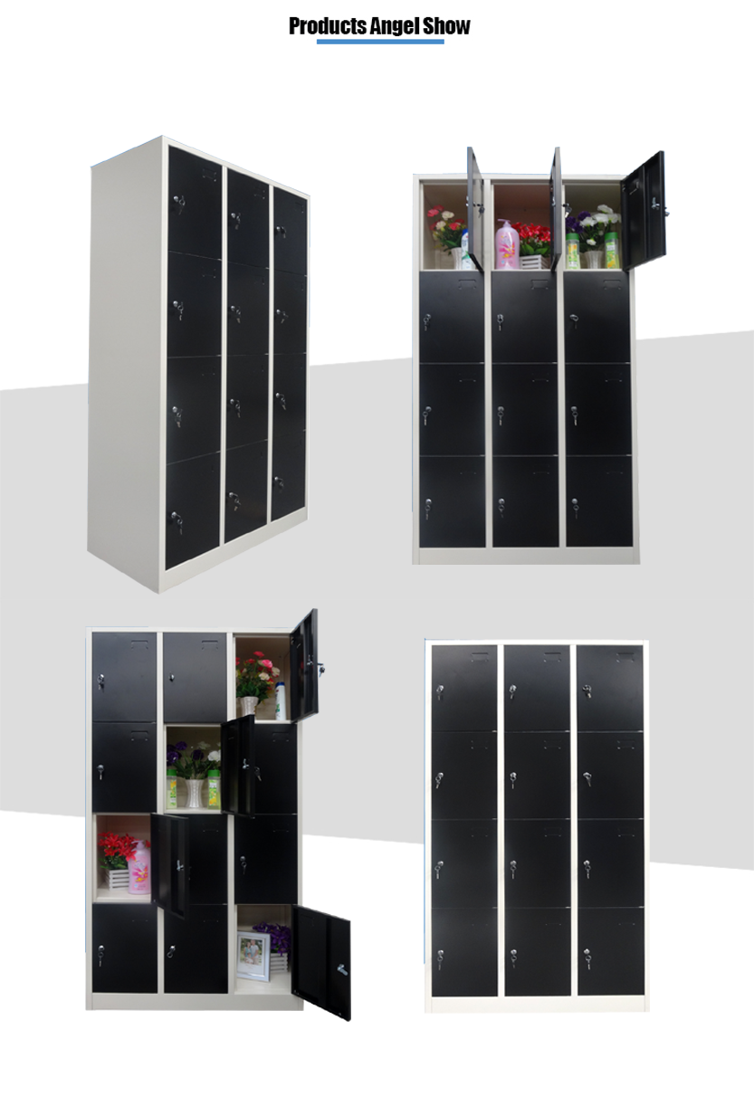 12 door steel wardrobe locker