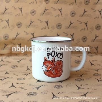 enamel white mugs & new product carbon steel mugs and cups