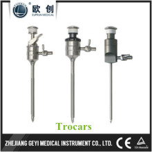 Trocares de aleación de titanio de acero inoxidable reutilizable 3.5mm / 5.5mm / 10.5mm / 12.5mm